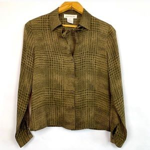 Jones New York | Vintage Silk Tie Neck Blouse